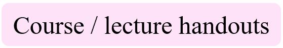 Course lecture handouts